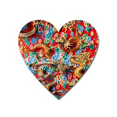 Dragons China Thailand Ornament Heart Magnet