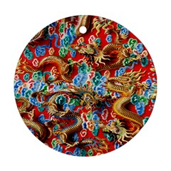 Dragons China Thailand Ornament Round Ornament (Two Sides)