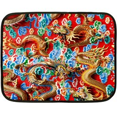 Dragons China Thailand Ornament Fleece Blanket (Mini)