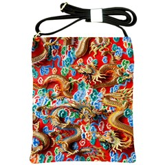 Dragons China Thailand Ornament Shoulder Sling Bags
