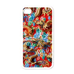Dragons China Thailand Ornament Apple iPhone 4 Case (White)