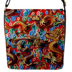 Dragons China Thailand Ornament Flap Messenger Bag (S)