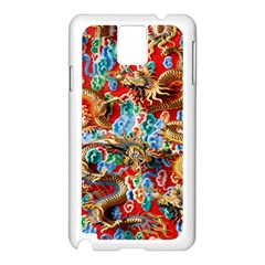 Dragons China Thailand Ornament Samsung Galaxy Note 3 N9005 Case (white)