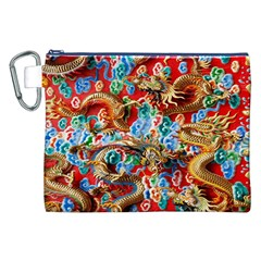 Dragons China Thailand Ornament Canvas Cosmetic Bag (XXL)