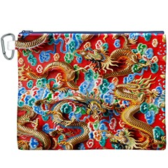 Dragons China Thailand Ornament Canvas Cosmetic Bag (xxxl)
