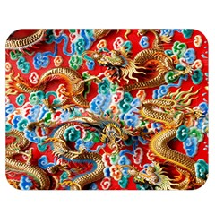 Dragons China Thailand Ornament Double Sided Flano Blanket (Medium)