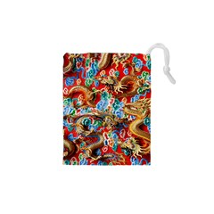 Dragons China Thailand Ornament Drawstring Pouches (XS)