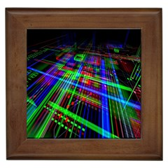 Electronics Board Computer Trace Framed Tiles