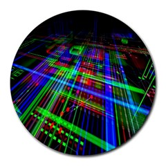 Electronics Board Computer Trace Round Mousepads