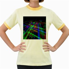 Electronics Board Computer Trace Women s Fitted Ringer T-Shirts