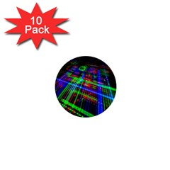 Electronics Board Computer Trace 1  Mini Buttons (10 pack)