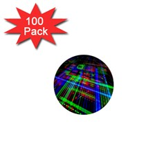Electronics Board Computer Trace 1  Mini Magnets (100 pack)