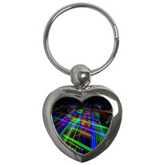 Electronics Board Computer Trace Key Chains (Heart)