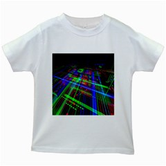 Electronics Board Computer Trace Kids White T Shirts