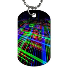 Electronics Board Computer Trace Dog Tag (One Side)