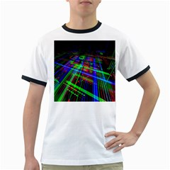 Electronics Board Computer Trace Ringer T-Shirts