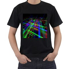 Electronics Board Computer Trace Men s T Shirt (black) (two Sided)