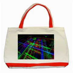 Electronics Board Computer Trace Classic Tote Bag (Red)