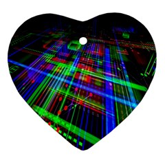 Electronics Board Computer Trace Heart Ornament (two Sides)