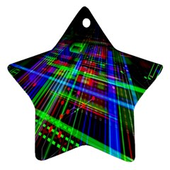 Electronics Board Computer Trace Star Ornament (two Sides)