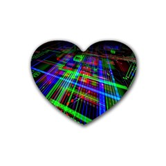 Electronics Board Computer Trace Heart Coaster (4 Pack)
