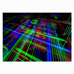 Electronics Board Computer Trace Large Glasses Cloth