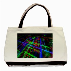 Electronics Board Computer Trace Basic Tote Bag (Two Sides)