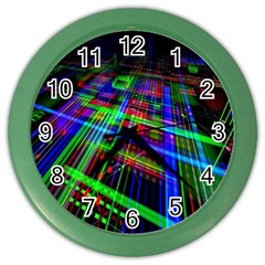 Electronics Board Computer Trace Color Wall Clocks