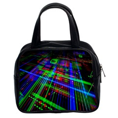 Electronics Board Computer Trace Classic Handbags (2 Sides)