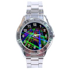 Electronics Board Computer Trace Stainless Steel Analogue Watch
