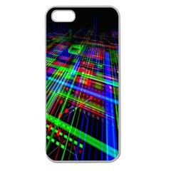 Electronics Board Computer Trace Apple Seamless iPhone 5 Case (Clear)