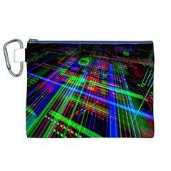 Electronics Board Computer Trace Canvas Cosmetic Bag (XL)