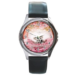 Elephant Heart Plush Vertical Toy Round Metal Watch