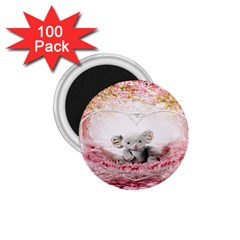 Elephant Heart Plush Vertical Toy 1.75  Magnets (100 pack)