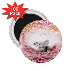 Elephant Heart Plush Vertical Toy 2.25  Magnets (100 pack)