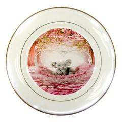 Elephant Heart Plush Vertical Toy Porcelain Plates