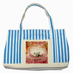 Elephant Heart Plush Vertical Toy Striped Blue Tote Bag