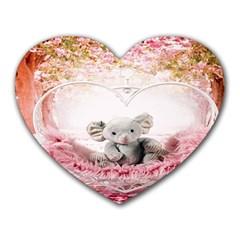 Elephant Heart Plush Vertical Toy Heart Mousepads
