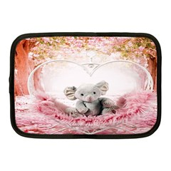 Elephant Heart Plush Vertical Toy Netbook Case (medium)