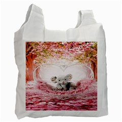 Elephant Heart Plush Vertical Toy Recycle Bag (Two Side)