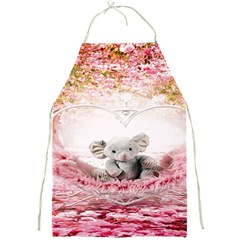 Elephant Heart Plush Vertical Toy Full Print Aprons