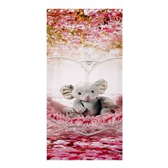 Elephant Heart Plush Vertical Toy Shower Curtain 36  x 72  (Stall)