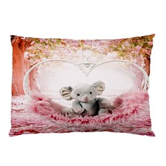 Elephant Heart Plush Vertical Toy Pillow Case (two Sides)