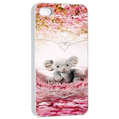 Elephant Heart Plush Vertical Toy Apple iPhone 4/4s Seamless Case (White)