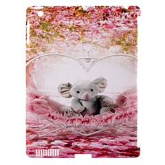 Elephant Heart Plush Vertical Toy Apple Ipad 3/4 Hardshell Case (compatible With Smart Cover)