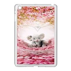 Elephant Heart Plush Vertical Toy Apple iPad Mini Case (White)