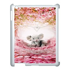 Elephant Heart Plush Vertical Toy Apple iPad 3/4 Case (White)