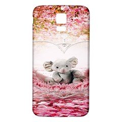 Elephant Heart Plush Vertical Toy Samsung Galaxy S5 Back Case (white)