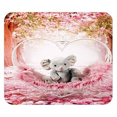 Elephant Heart Plush Vertical Toy Double Sided Flano Blanket (small)