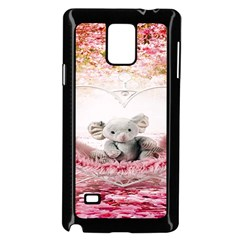Elephant Heart Plush Vertical Toy Samsung Galaxy Note 4 Case (Black)